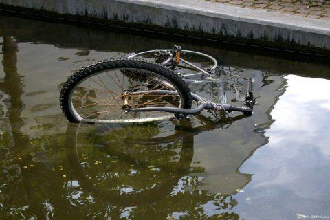 fiets, water