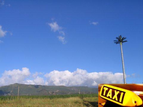 taxi, tropisch eiland