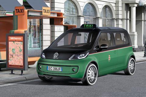 elektrische, taxi, Volkswagen