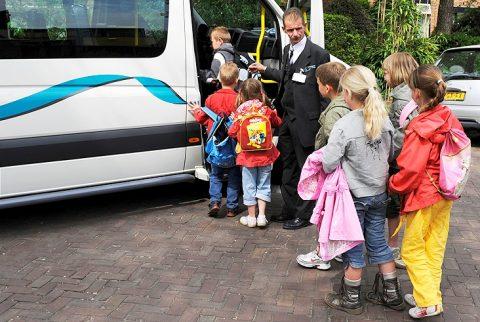 leerlingenvervoer, taxi, school, opstapplaats
