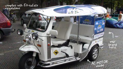 elektrische, Tuk Tuk, taxi, TukTukFactory