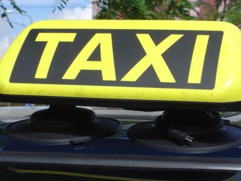 taxi, daklicht, taxichauffeur