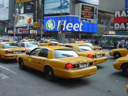 New York, Yellow Cab, taxi, VS
