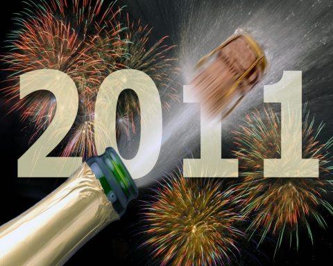 Gelukkig Nieuwjaar, oudjaar, beste wensen, 2011