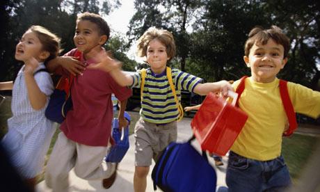 kinderen, basisschool, vervoer