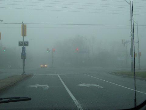 mist, verkeer, gevaar