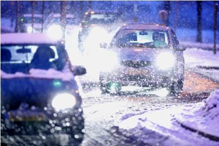 sneeuw, verkeer