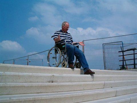 station, rolstoel, toegankelijkheid, hellingbaan