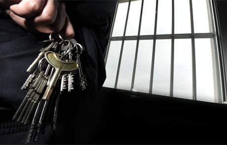 gevangenis, cel, vast zitten
