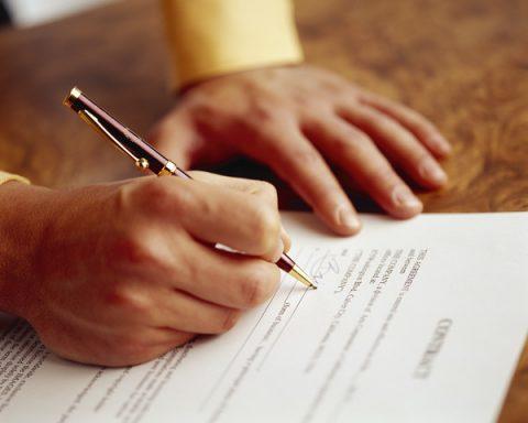 contract, tekenen, verkoop, bedrijf