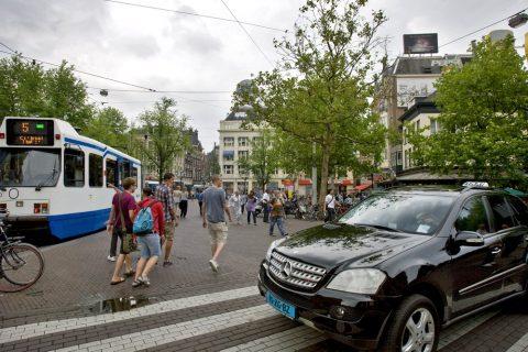 Leidseplein, taxistandplaats, Amsterdam, taxi
