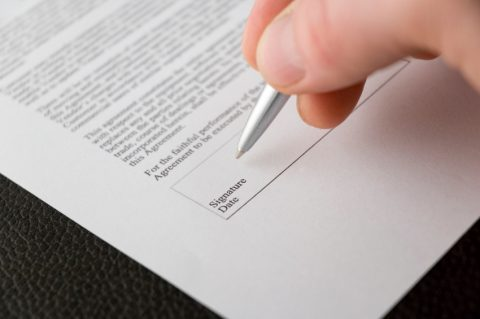 ondertekenen, offerte, aanbieding, contract