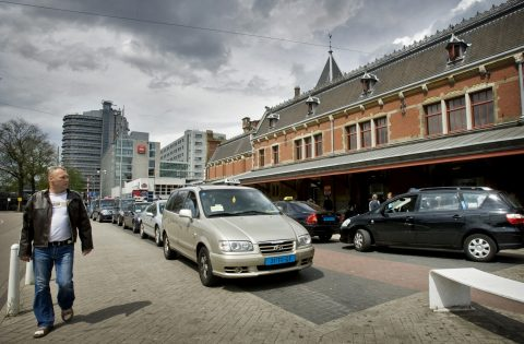 taxi, Amsterdam, Centraal Station, taxistandplaats