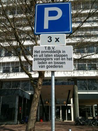 laden en lossen, Schiedam, taxistandplaats