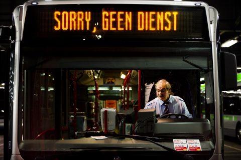staking, openbaar vervoer, bus, buschauffeur