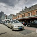Amsterdam, taxistandplaats, Centraal Station, taxi, taxichauffeur