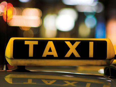 taxibord, taxi, daklicht