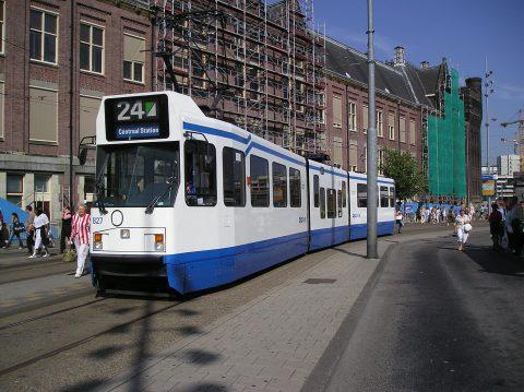 Amsterdam, tram, GVB