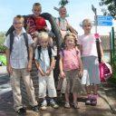 leerlingenvervoer, bushalte, scholieren