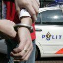 politie, gepakt, handboeien, arrestatie