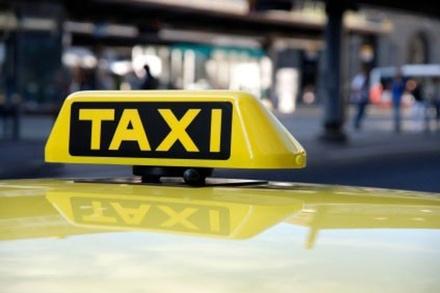 taxibord, daklicht, taxi