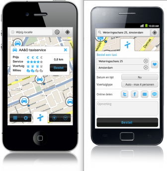 taxiID, Android, iPhone, app, taxi
