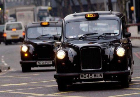 black cab, taxi, Londen