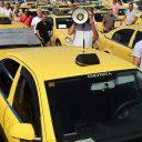 Griekenland, taxi, taxichauffeur, staking