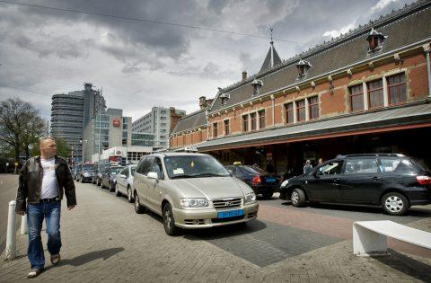taxistandplaats, Amsterdam, taxi