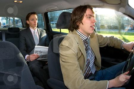 taxichauffeur, taxi, passagier