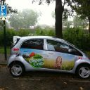GreenCab, Wheels4ALL, elektrische iMiEV, laadplaats