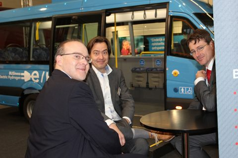 elektrische minibus, waterstof, taxi expo