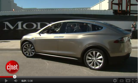 Tesla Model x, elektrische auto, zevenpersoons