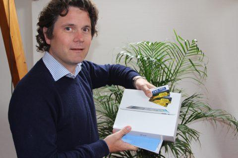 Joan Blaas, TaxiPro.nl, iPad2