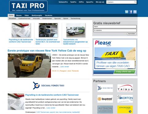 TaxiPro.nl, website, nieuws, vakblad, taxibranche, taxi