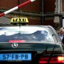 Amsterdam, taxistandplaats, Centraal Station, CS, slagboom