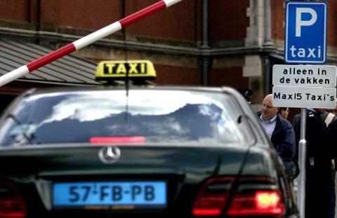 Amsterdam, taxistandplaats, Centraal Station, CS, slagboom