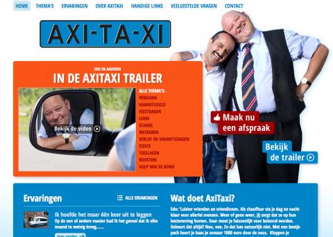 Axitaxi, website, taxichauffeur
