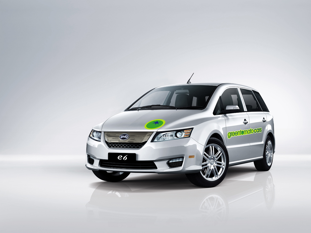 greentomatocars, byd, e6, elektrische taxi, Londen