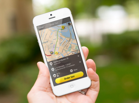 TomTom, Taxi Booking, app, iPhone, smartphone