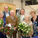 Gerda de Kruijf, Jan Christiaan Goudbeek, Arie Hoogenboom, Hans Hoogenboom, Riet Hoogenboom en Trix Hoogenboom, uitreiking IRU-diploma