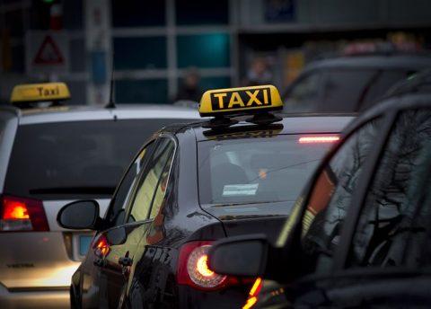 taxi, rij, taxichauffeur