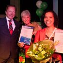 BIOS-groep, MBO-diploma, uitreiking, directeur Stef Hesselink, taxichauffeur Johanna van Roon en Johanna Dom