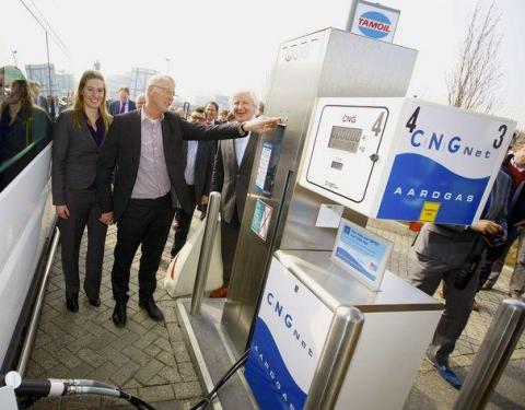 tankstation, aardgas, groengas, cng, opening
