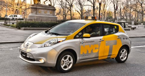 nissan, leaftaxi, nyc, taxi, New York, Yellow Cab