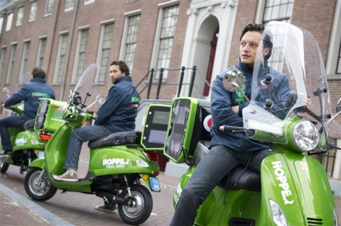 hopper, scooter, taxi, Amsterdam