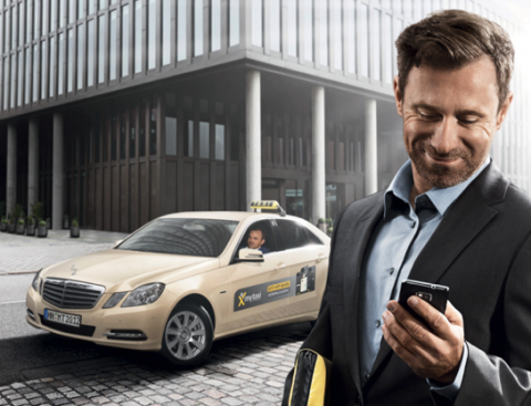 MyTaxi, taxi-bestel-app, Duitsland, klant, mobiel