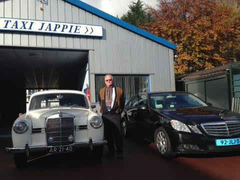 Taxi Jappie, Jap Sweijen, taxibedrijf, Mercedes 190 Ponton uit 1958