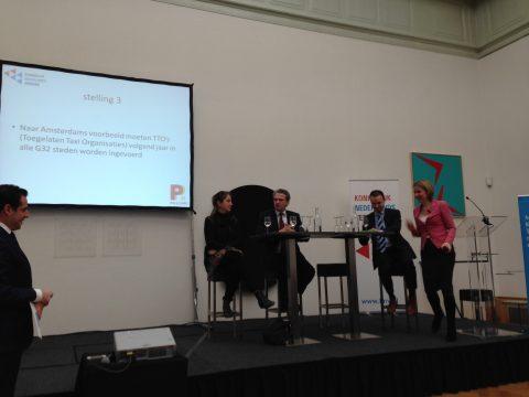 Pulchri-debat, KNV, Betty de Boer VVD, Roelof Bisschop SGP, Sander de Rouwe CDA, Stientje van Veldhoven D66