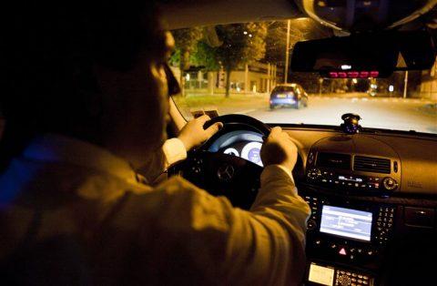 taxichauffeur, nacht
